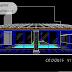 مخطط مشروع مسبح منزلي مغلق اوتوكاد dwg