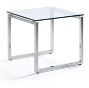 Sly Glass Top End Table from Woodstock