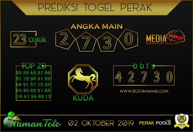 Prediksi Togel PERAK TAMAN TOTO 02 OKTOBER 2019
