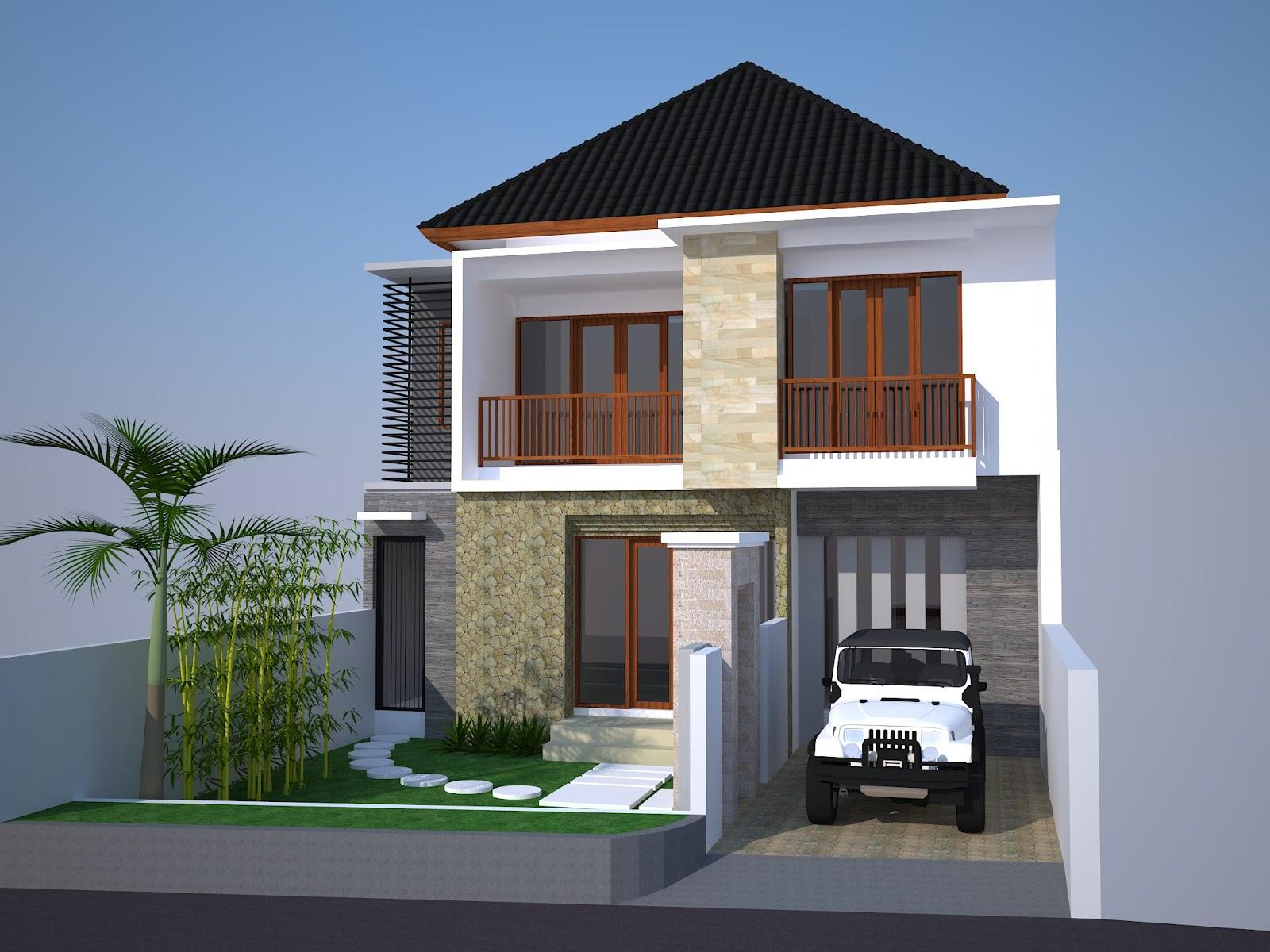 Gambar Desain Rumah Minimalis 2 Lantai Type 54 Terbaru Desain