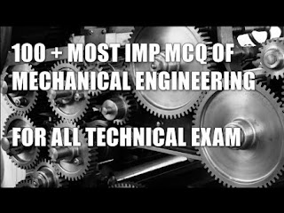 MECHANICAL ENGINEERING TOPIC WISE MCQ WITH ANSWER