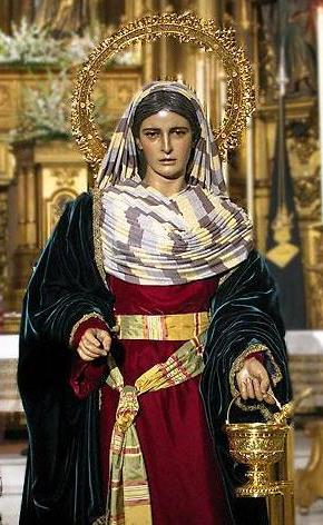 Imagen de Santa Marta dentro de una iglesia