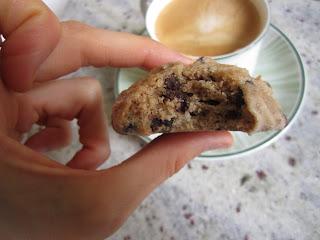 Cookies aux pépites de chocolat, recette de la box de Pandore, intérieur du cookies