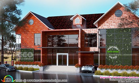 Luxury sloping roof 5 bedroom home