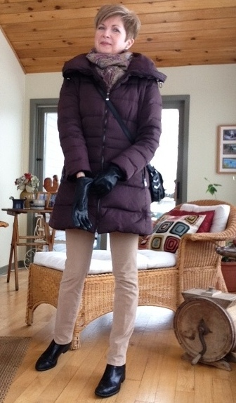 Mackage bag with my Zara down coat