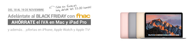 Adelántate al Black Friday Fnac Apple