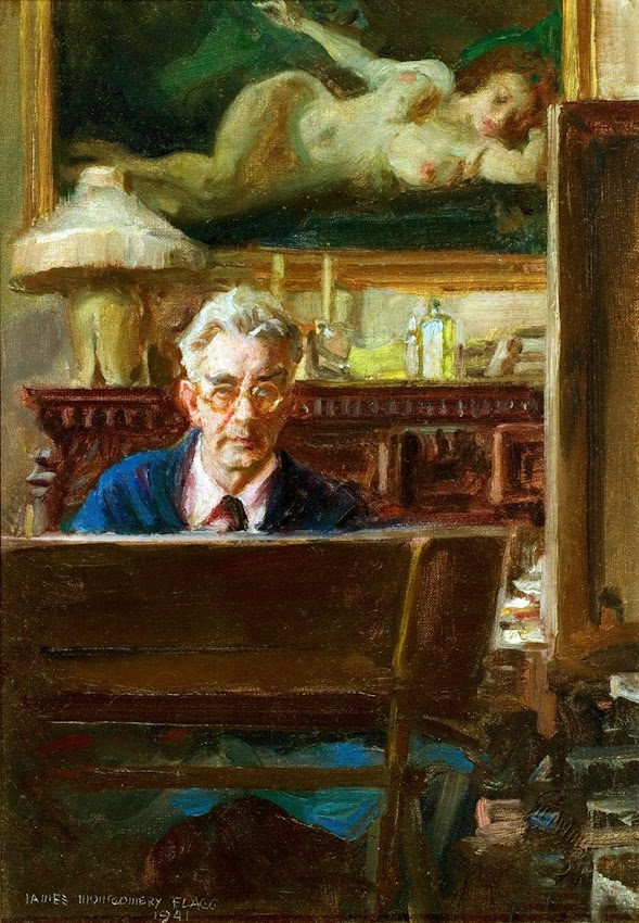 James Montgomery Flagg, Self Portrait, International Art Gallery, James Montgomery, Self Portrait, Art Gallery, Portraits of Painters, Fine arts, Self-Portraits, Painter James Montgomery