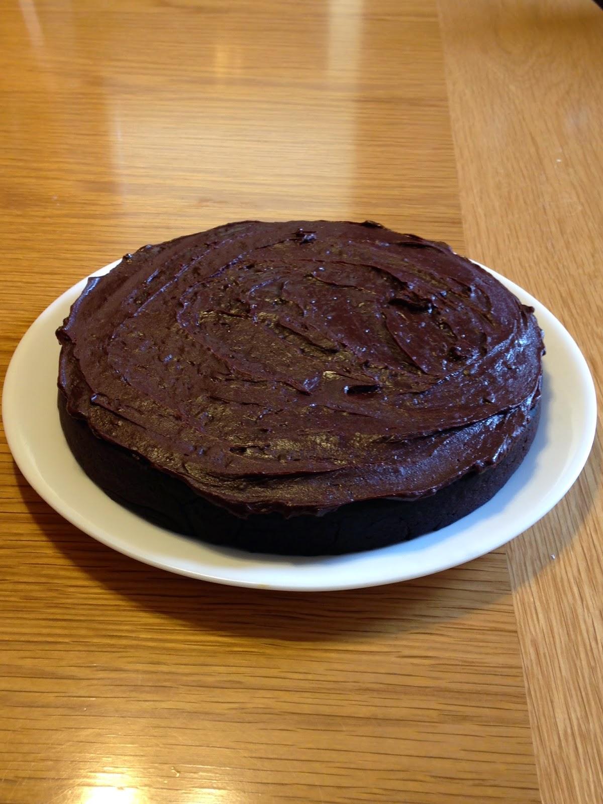 The Chocolate Cult: Recipe: Rice Flour Chocolate Cake