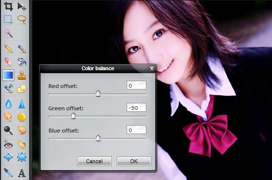 toning warna foto