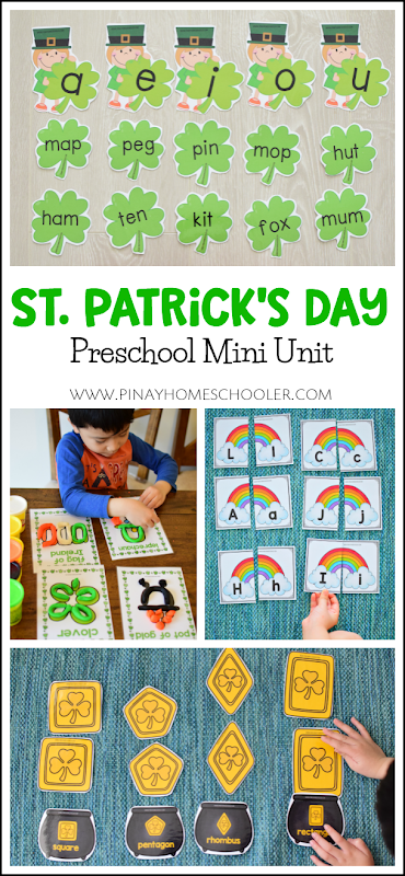 St. Patrick's Day Gold Coins Ten Frames