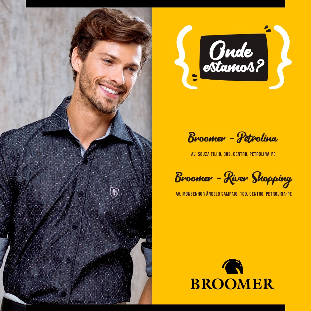 O melhor da moda masculina você encontra na BROOMER em Petrolina no Vale do  São Francisco 2d05df1029b