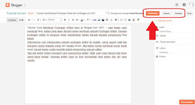 Cara Memposting atau Menulis Artikel di Blog untuk Pemula