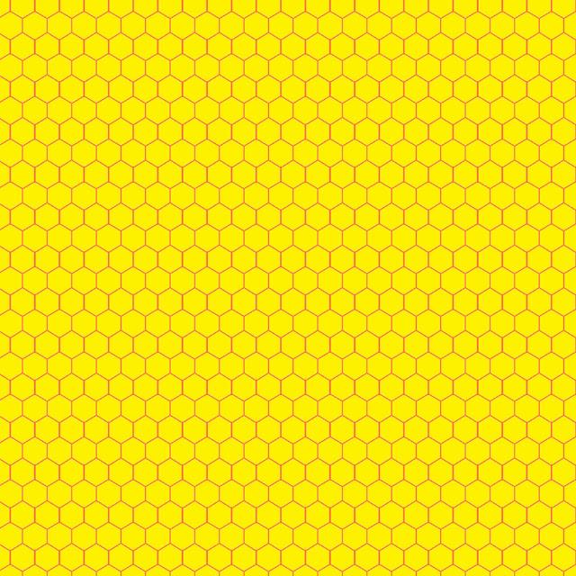 HoneyComb & Honey Bees, Beehive, Black & Yellow Hexagon ... |Yellow Honeycomb Wallpaper