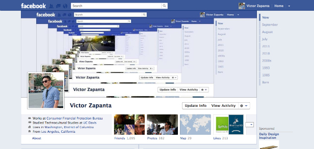 18 Clever Facebook Timeline Designs