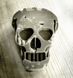 Nut free chocolate skull homemade for Halloween.