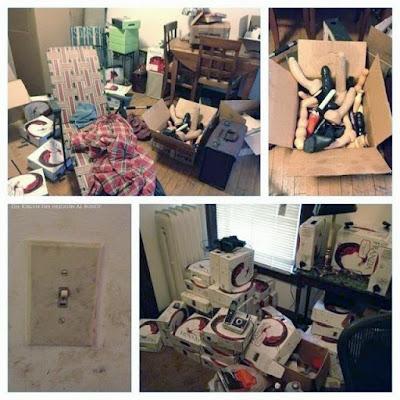 In Wohnung einziehen - Kartons auspacken - lustige Umzugsbilder