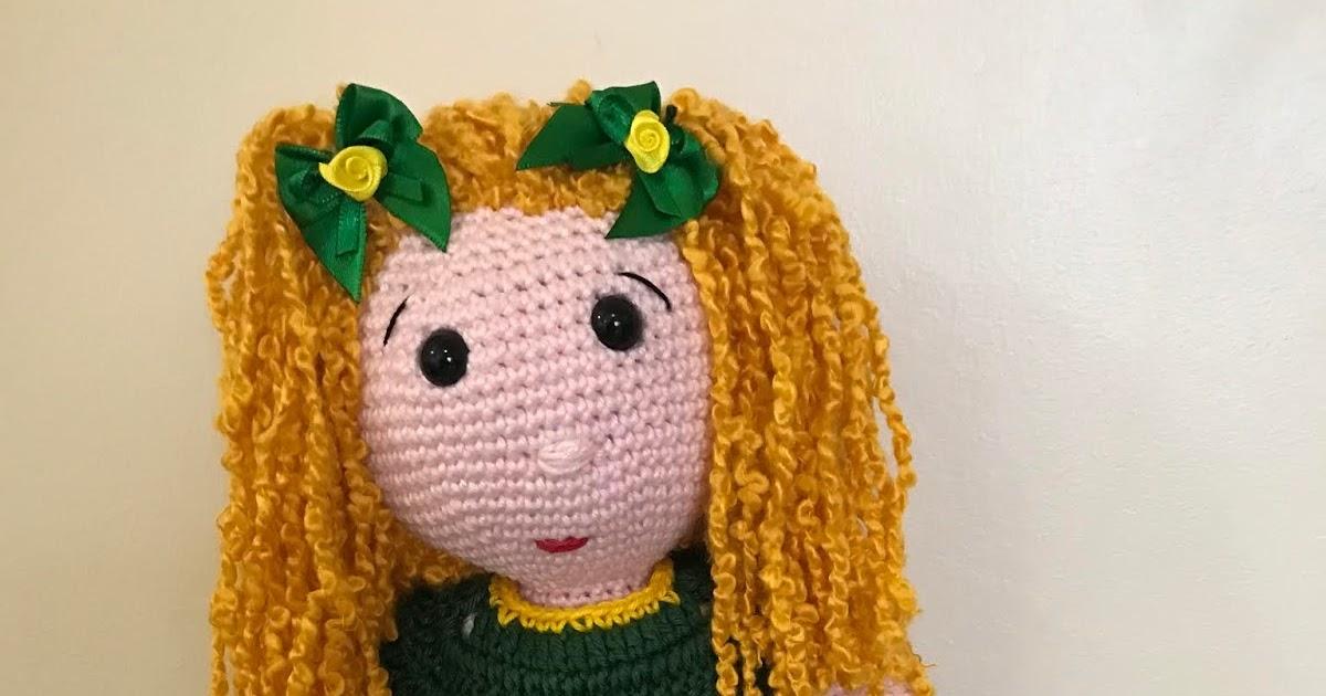 Boneca Duda amigurumi vestido amarelo no Elo7 | Crochetados por ... | 630x1200