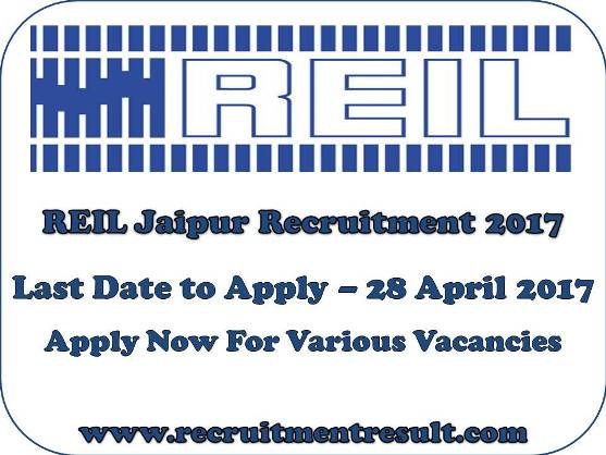 REIL Jaipur Recruitment