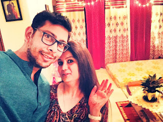 Arun grover with his wife
