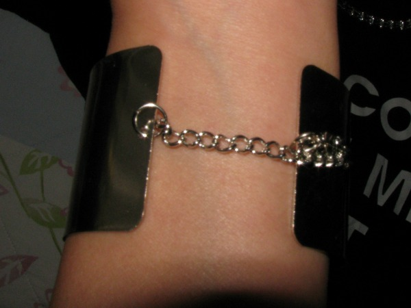 silver bracelet with chain - Persunmall