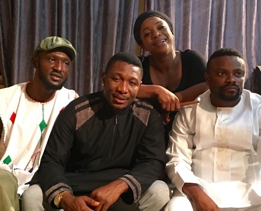 Photos: Mercy Johnson,Queen Nwokoye, Kanayo O Kanayo Shooting Professor Johnbull Movie In Enugu