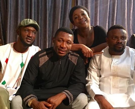 Photos: Mercy Johnson,Queen Nwokoye, Kanayo O Kanayo Shooting Professor Johnbull Movie In Enugu