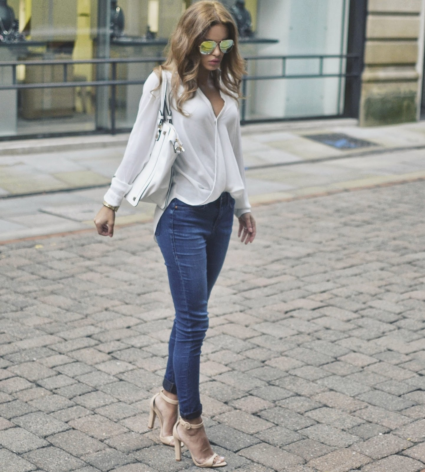 Jeans, High Heels and a Pretty Blouse