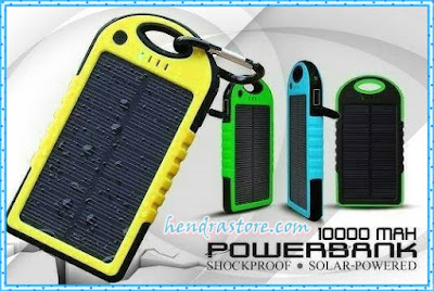 Jual Power Bank Solar Cell - Powerbank Tenaga Matahari Murah
