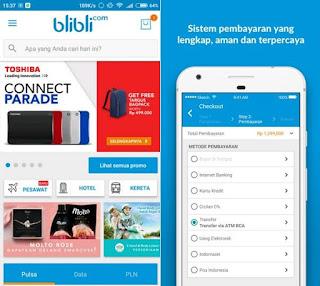 Aplikasi belanja online terpercaya dan terpopuler