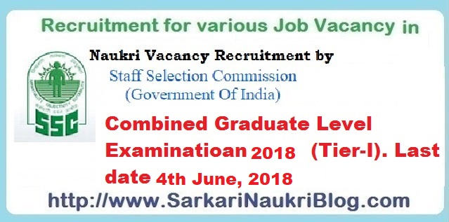 SSC Combined Graduate Level Examination CGL 2018