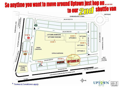 Damansara Uptown second Shuttle van scheduled stop