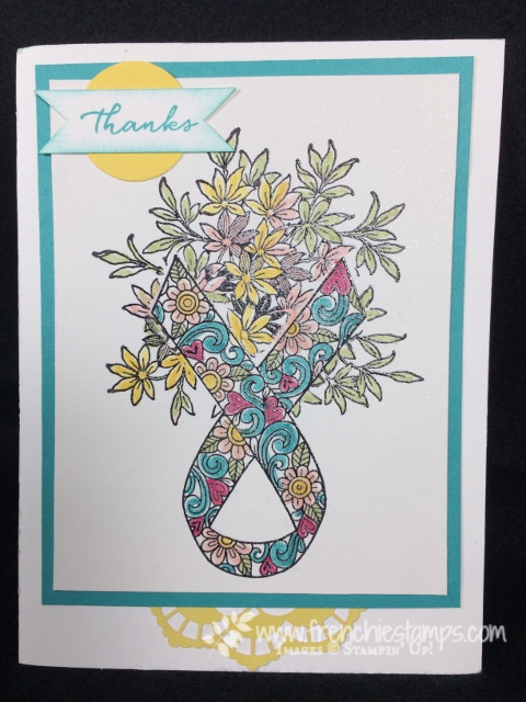 Flower Vase with Ribbon of Courage,Awesomely Artistic, Stampin'Up!,