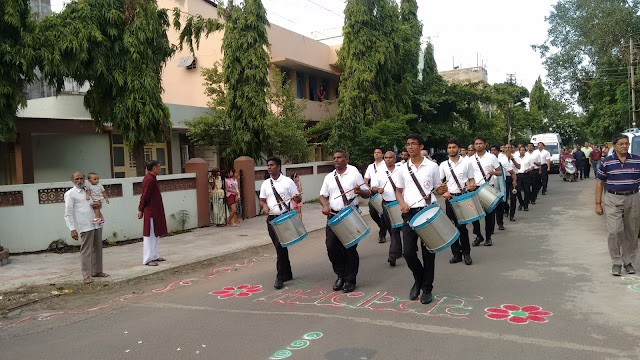 Route March by HSS volunteers at Nagpur