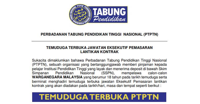 Temuduga Terbuka di PTPTN Cawangan Negeri