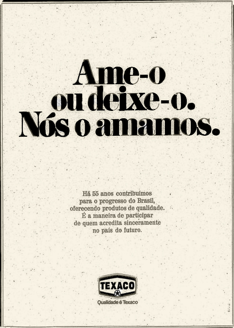 Campanha dos Postos Texaco para comemorar os 55 anos de atividade no Brasil