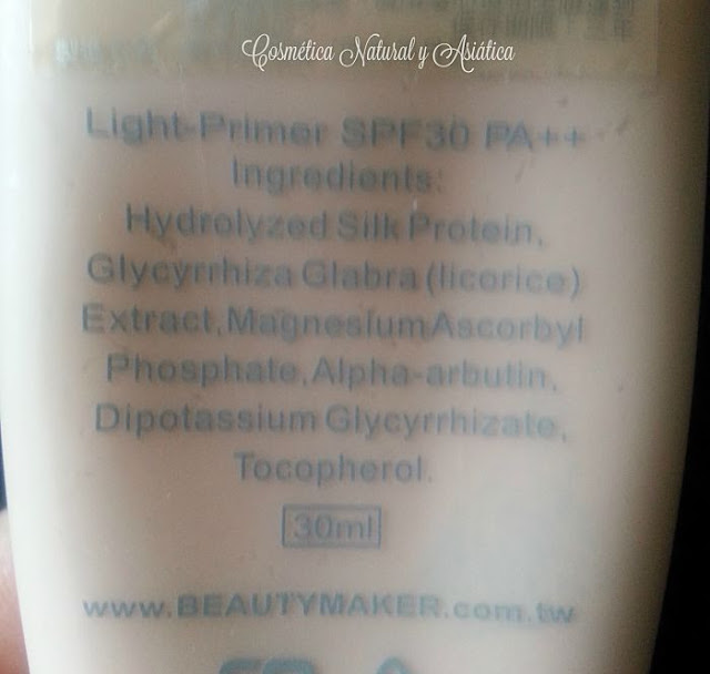 beautymaker-kevin-light-primer-spf30-ingredientes