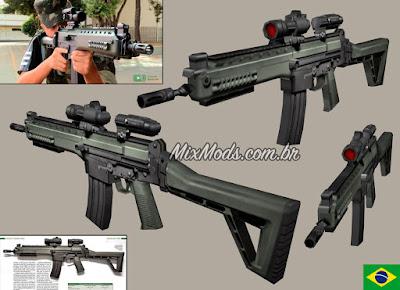 gta sa san mod arma brasileira imbel ia2 exército