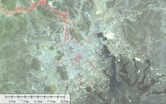Citra Satelit Lapan di Kota Madinah - Arab Saudi