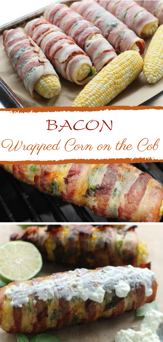 Bacon-Wrapped Corn on the Cob #grill #glutenfree