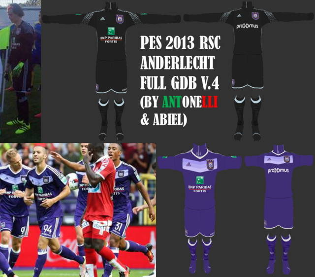 PES 2013 Anderlecht Kit Season 2016-2017