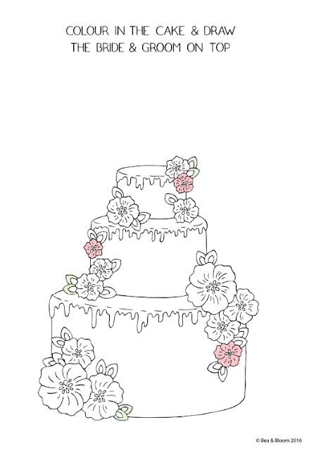 "Lámina para colorear ""Tarta para colorear y dibujar"" de Bea & Bloom"