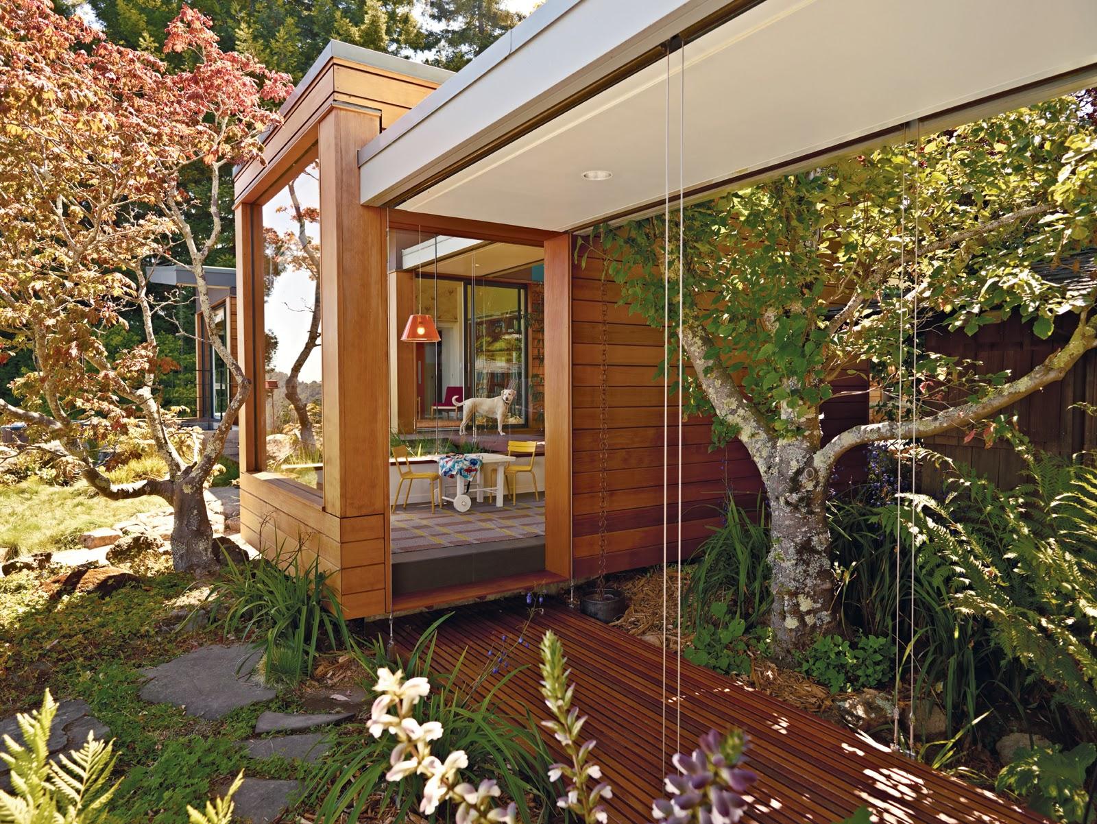 die wohngalerie offenes wohnen mit prefab anbau ein esherick haus erweitern. Black Bedroom Furniture Sets. Home Design Ideas
