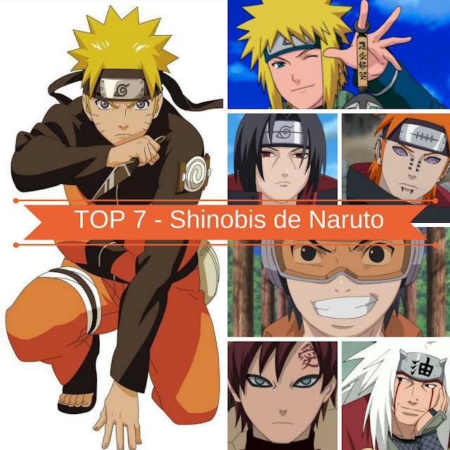 Poster Top 7 - Shinobis de Naruto