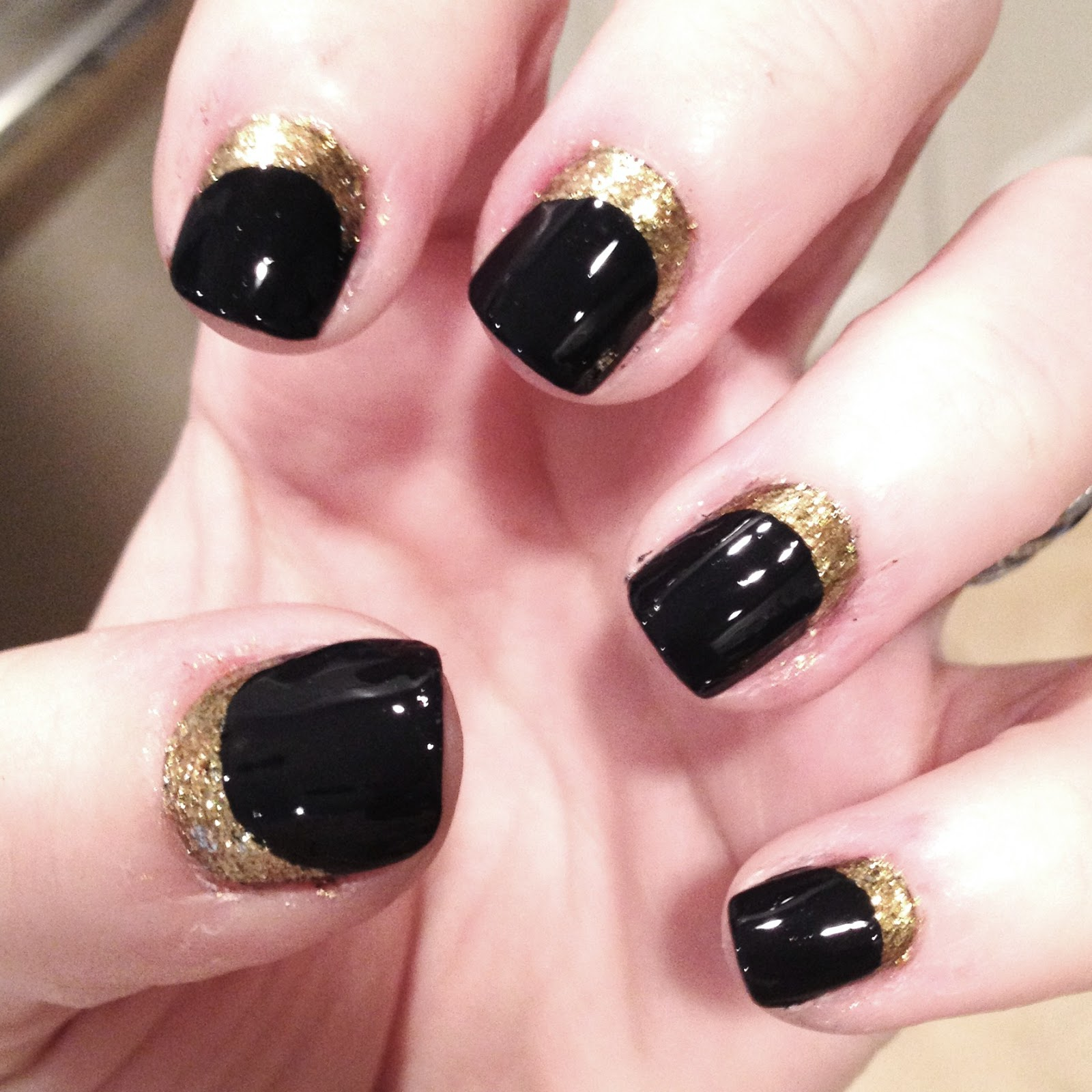 Home Decor Blogs Tiffanyd Nail Art Tutorial Navy Gold Quot Ruffian Quot Inspired
