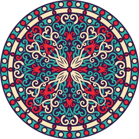 Renkli Mandala örnekleri şekilli Mandala örnekleri