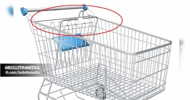 Korang Tahu Tak Apa Fungsi Gegelung Kat Troli Supermarket Ni? Bukan Tempat Letak Anak Sebenarnya Tapi...