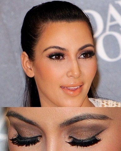 makeup magic: MY LOOK - Kim Kardashian Soft Brown Eye