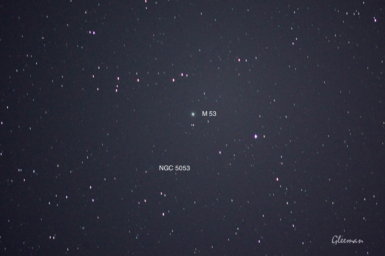M53, NGC 5053/ Pentax  K5 + Pentax O-GPS1 + DA*200