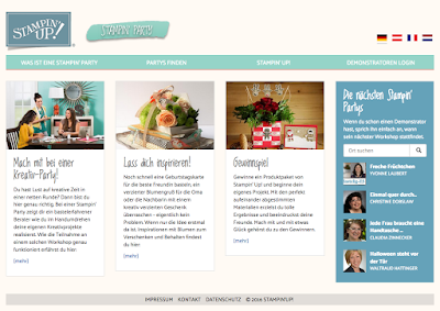 Stampin' Up! rosa Mädchen Kulmbach: Stampin' Party Website mit Gewinnspiel