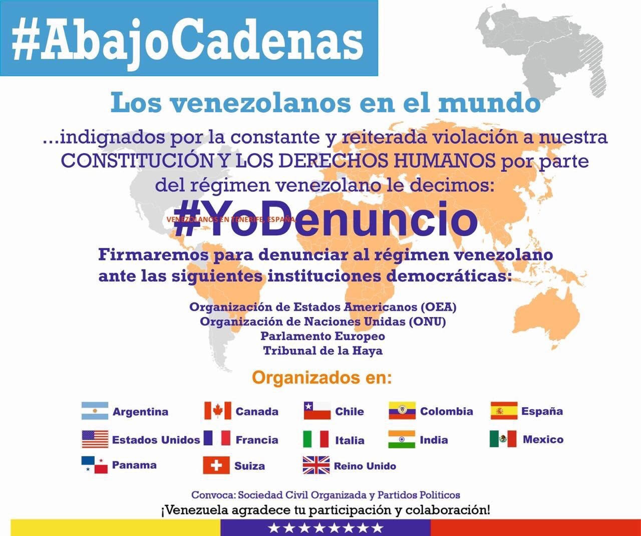 Eye on the world venezolanos en el mundo denuncian a maduro for Venezolanos en el exterior
